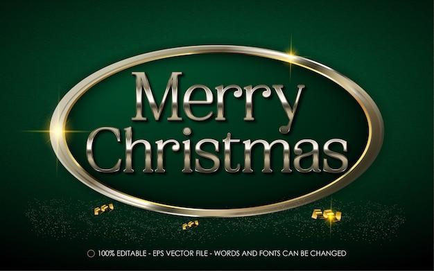 Bewerkbaar teksteffect merry christmas-stijlillustraties