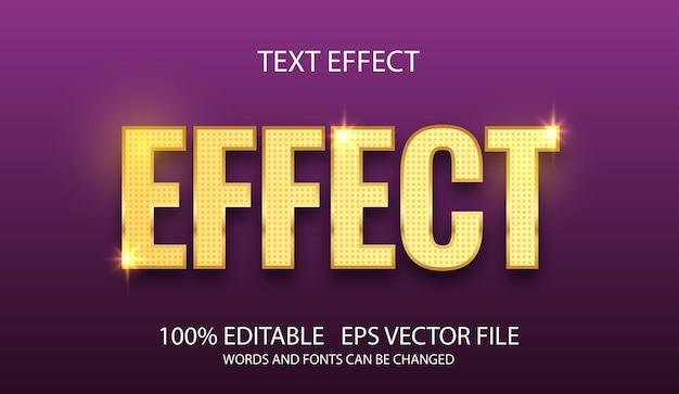 Bewerkbaar teksteffect met gouden sjabloon
