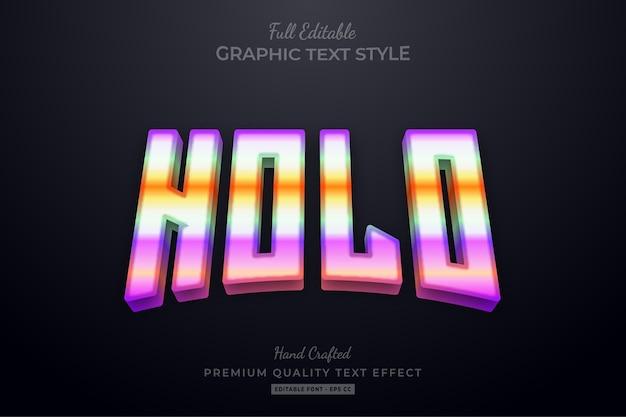 Bewerkbaar teksteffect met holografisch verloop