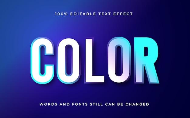 Bewerkbaar teksteffect met kleur met verloop