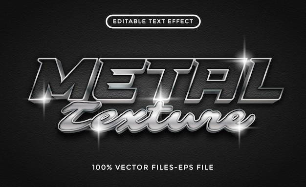 Bewerkbaar teksteffect met metalen textuur. staaleffect met koolstofachtergrond