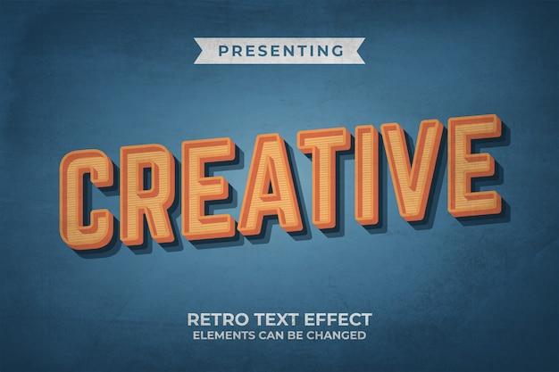 Bewerkbaar teksteffect met retro-oude lookstijl