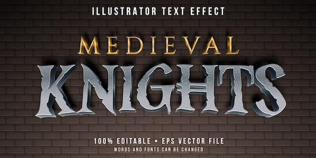 Bewerkbaar teksteffect - middeleeuwse tekststijl