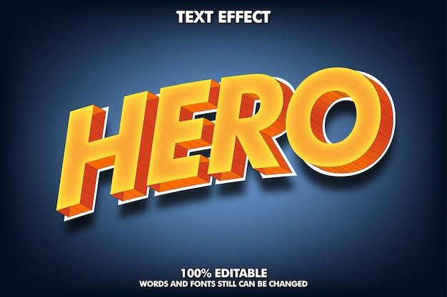 Bewerkbaar teksteffect modern 3d-teksteffect voor titel en sticker