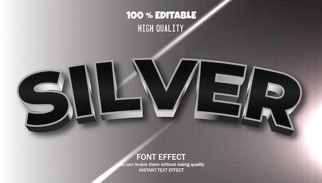 Bewerkbaar teksteffect, modern vormgegeven 3d-trendy lettertype
