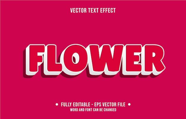 Bewerkbaar teksteffect moderne bloemstijl