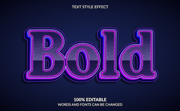 Bewerkbaar teksteffect moderne en vetgedrukte tekststijl