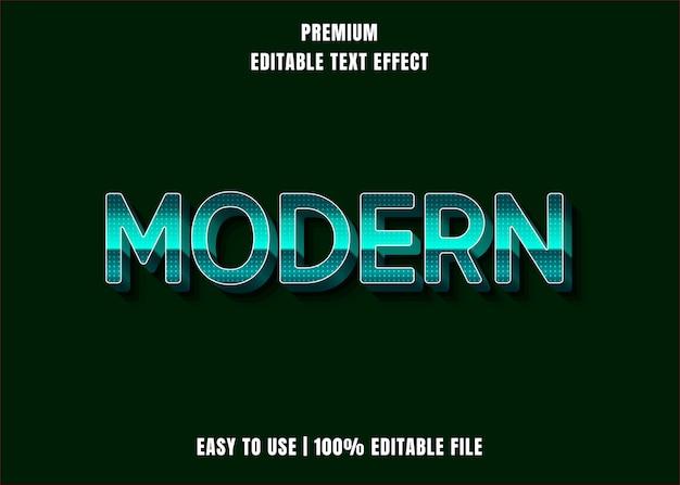 Bewerkbaar teksteffect - moderne groene stijl