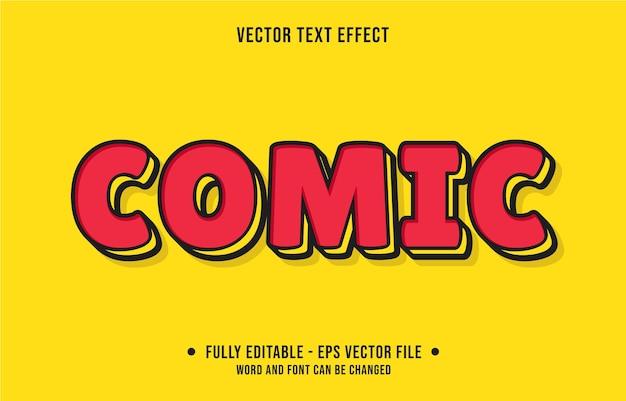 Bewerkbaar teksteffect moderne komische stijl