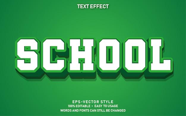 Bewerkbaar teksteffect moderne school