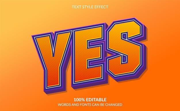 Bewerkbaar teksteffect moderne tekststijl
