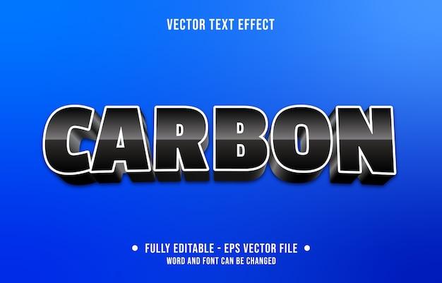 Bewerkbaar teksteffect moderne zwarte koolstofstijl