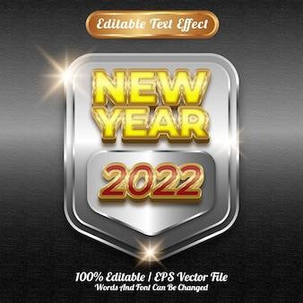 Bewerkbaar teksteffect nieuwjaar 2022-stijl