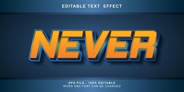 Bewerkbaar teksteffect nooit