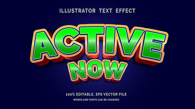 Bewerkbaar teksteffect nu actief stijl