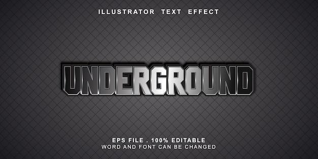 Bewerkbaar teksteffect ondergronds