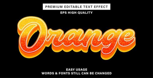 Bewerkbaar teksteffect oranje