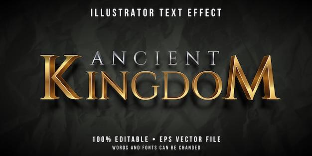 Bewerkbaar teksteffect - oude koninkrijksstijl