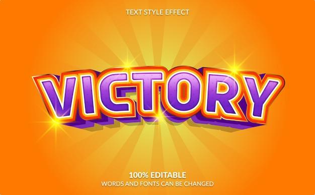 Bewerkbaar teksteffect, overwinningstekststijl