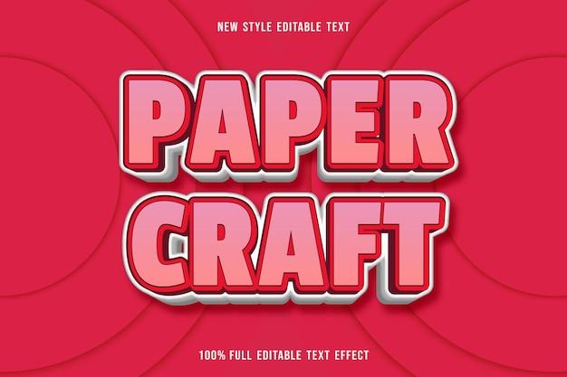 Bewerkbaar teksteffect papieren vaartuig in roze en wit