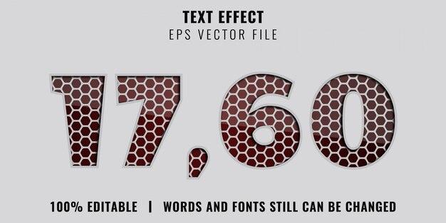 Bewerkbaar teksteffect - papiersnitstijl