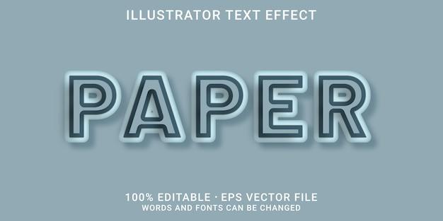 Bewerkbaar teksteffect - papierstijl