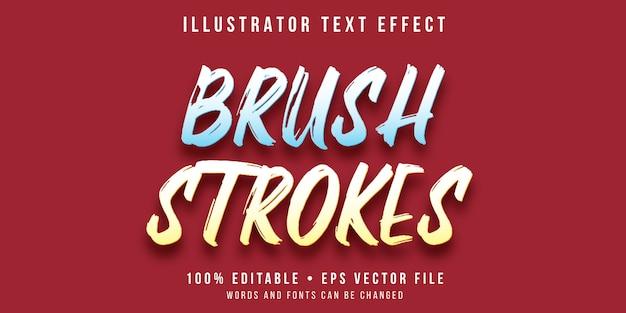 Bewerkbaar teksteffect - penseelstreekstijl