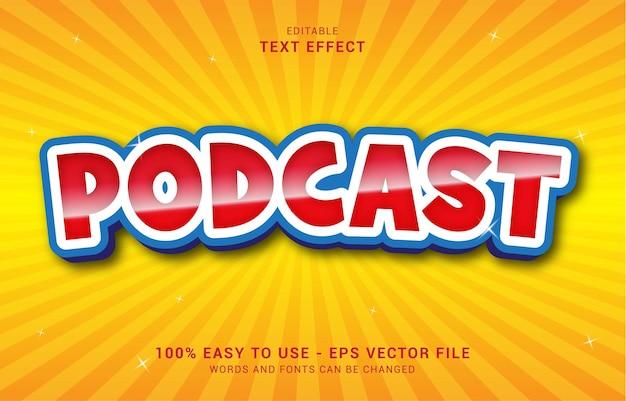 Bewerkbaar teksteffect, podcast-stijl kan worden gebruikt om titel te maken