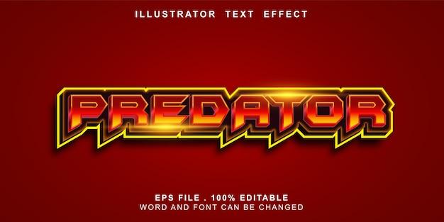 Bewerkbaar teksteffect predator