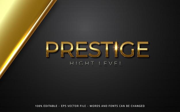 Bewerkbaar teksteffect prestige-stijlillustraties