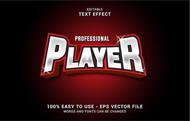 Bewerkbaar teksteffect, professionele spelerstijl kan worden gebruikt om titel te maken
