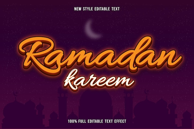 Bewerkbaar teksteffect ramadan kareem