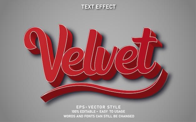 Bewerkbaar teksteffect red velvet