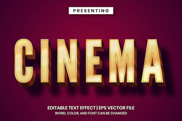Bewerkbaar teksteffect - retro bioscoopstijl