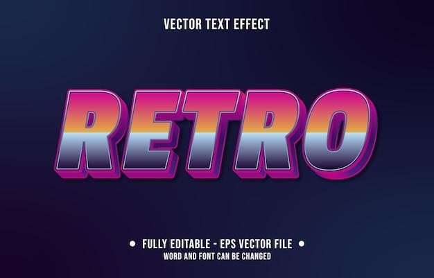 Bewerkbaar teksteffect retro tachtig stijl