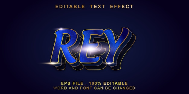 Bewerkbaar teksteffect rey