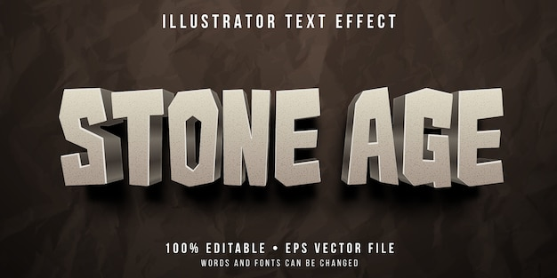 Bewerkbaar teksteffect - rockstijl uit het stenen tijdperk