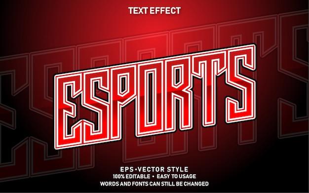 Bewerkbaar teksteffect rode e-sport