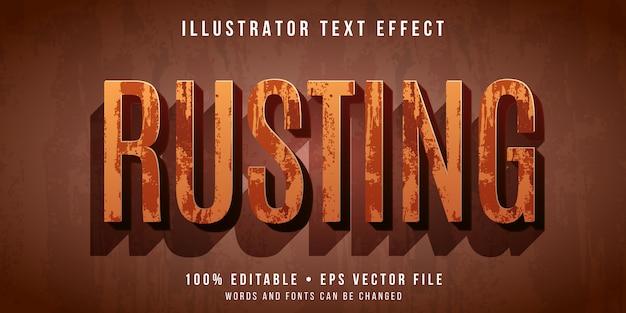 Bewerkbaar teksteffect - roestende tekststijl