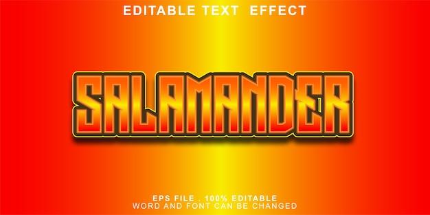 Bewerkbaar teksteffect salamander verloop