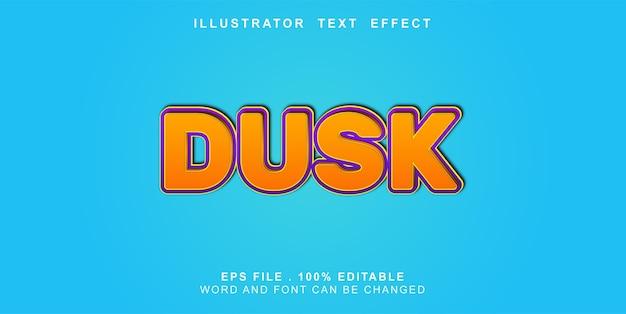 Bewerkbaar teksteffect schemering