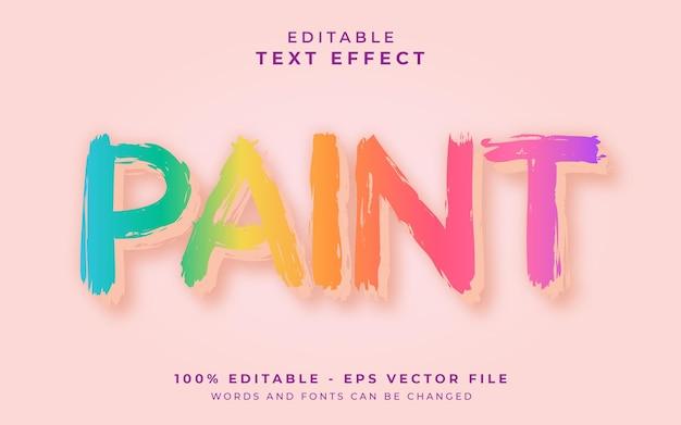 Bewerkbaar teksteffect schilderen
