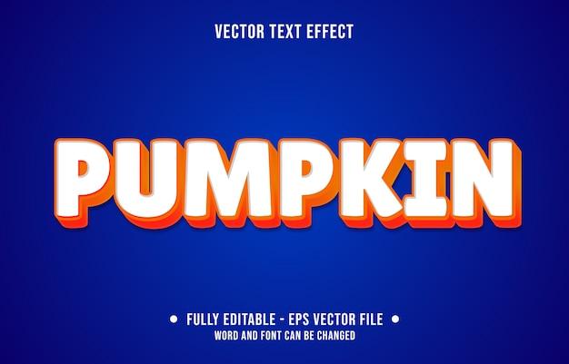 Bewerkbaar teksteffect schone oranje pompoenstijl