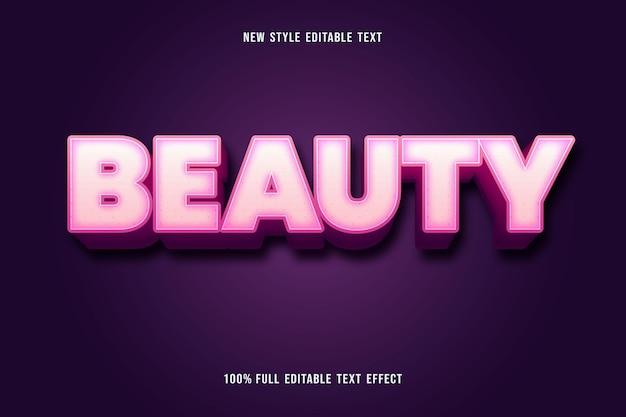 Bewerkbaar teksteffect schoonheidskleur wit en roze