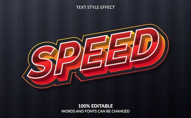 Bewerkbaar teksteffect, snelheidstekststijl