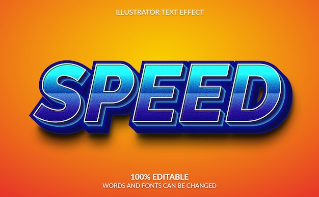 Bewerkbaar teksteffect, snelle tekststijl
