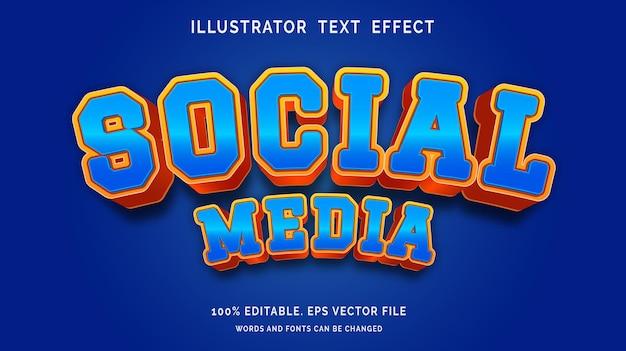 Bewerkbaar teksteffect sociale-mediastijl