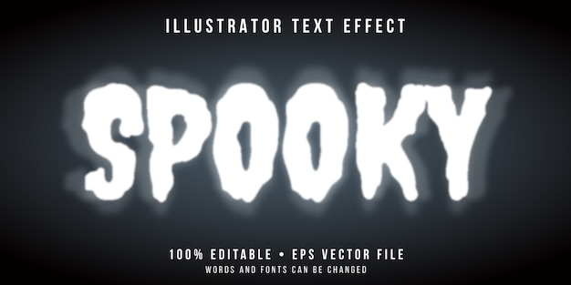 Bewerkbaar teksteffect - spookachtige spookstijl