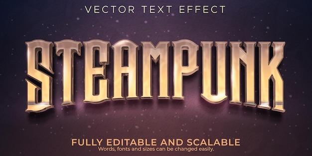 Bewerkbaar teksteffect, steampunk vintage tekststijl