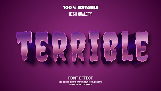 Bewerkbaar teksteffect, sterk vet modern lettertype-effect